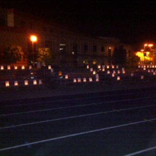 Cancer walk at St Benedicts high school 2011