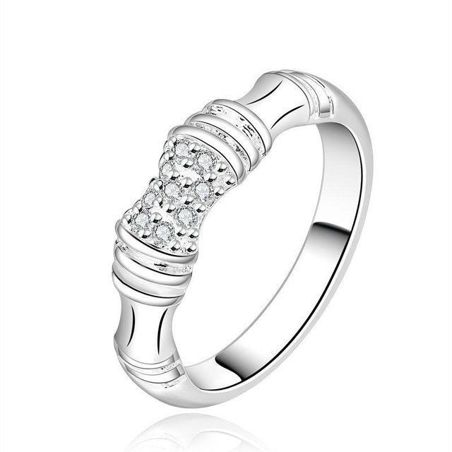 Скидки заводские посеребренные ювелирные изделия Стильная простота женский обручальное кольцо Классический стиль R637