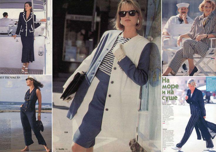 Морской стиль в одежде: модели Burda c 1950-х до наших дней