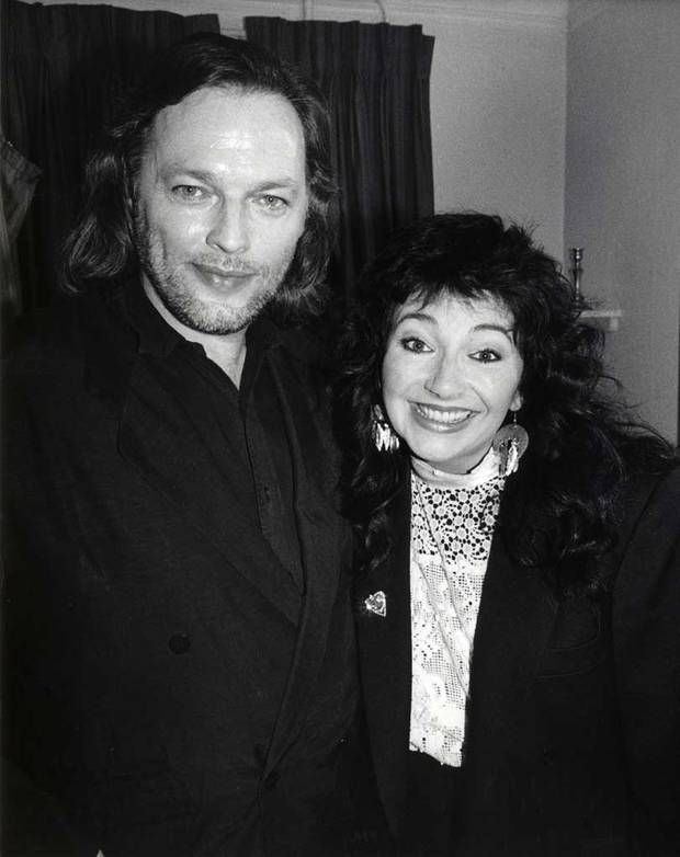 Kate Bush and Dave Gilmour, 1986.