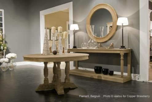 Flamant room interiors 081 console briar mirror estelle for Flamant home interieur