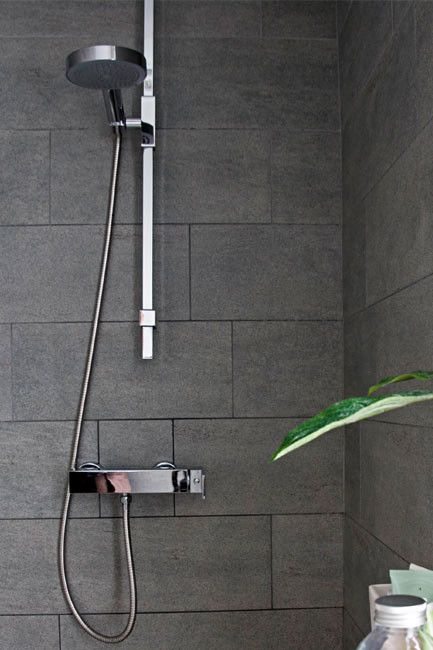 Master bathroom tile inspiration, love shower head too
