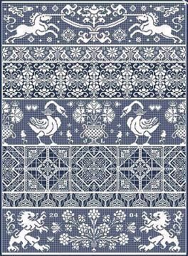 Bagatelle - just one of many beautiful, intricate cross stitch designs from European Crosstitch Company (purchase patterns).