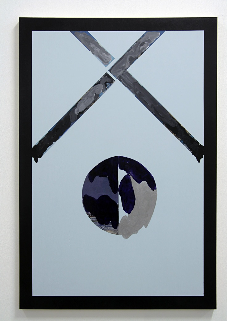 Sean Bailey, Order and Decay (2012), Synthetic polymer paint and collage on ply board