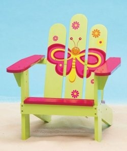 Kids Butterfly Adirondack Chair