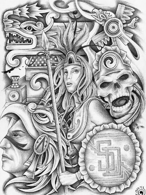 Aztec Drawings | Aztec Art Graphics Code | Aztec Art Comments & Pictures