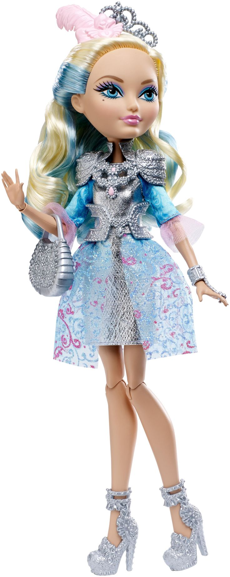 Darling Charming Ever After High Doll, 2015 ($20 at Shop.Mattel.com. I bought her on sale for $16.) - This is the debut Darling doll. She is the daughter of King Charming, twin sister of Dexter Charming and younger sister of Daring Charming.