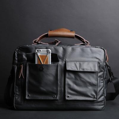 Men's Business Briefcase, Waterproof Canvas Messenger Laptop Bag 093 – EchoPurse