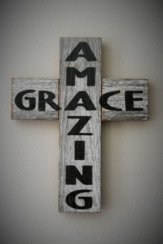 Hey, I found this really awesome Etsy listing at https://www.etsy.com/listing/198797261/amazing-grace-rustic-barn-board-cross