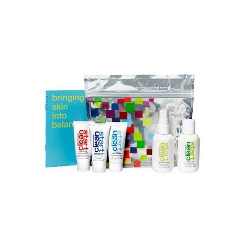 Dermalogica Clean Start Kit - 5 Pieces by Dermalogica. $32.95. Dedicated to skin care needs of teen acne in a full regimen kit. Perfect for travel or to slip into a carry-on bag. Best for those with acne. Contains: Clean Start Wash Off (1.7 oz.), All Over Clear (1.7 oz.), Ready, Set, Scrub (0.5 oz.), Bedtime for Breakouts (0.5 oz.), Welcome Matte SPF 15 (0.5 oz.). Great to try the products before purchasing retail sizes. Dermalogica  Clean Start Acne Starter Kit (5-Piece Kit)  ...