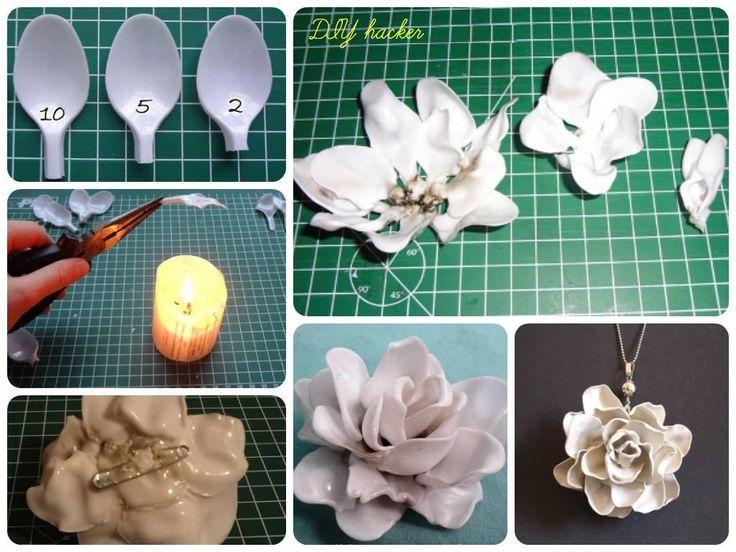 plastic spoon flower DIY