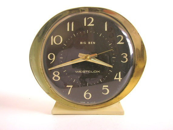 Vintage Wind Up Alarm Clock Westclox Big Ben Series 8