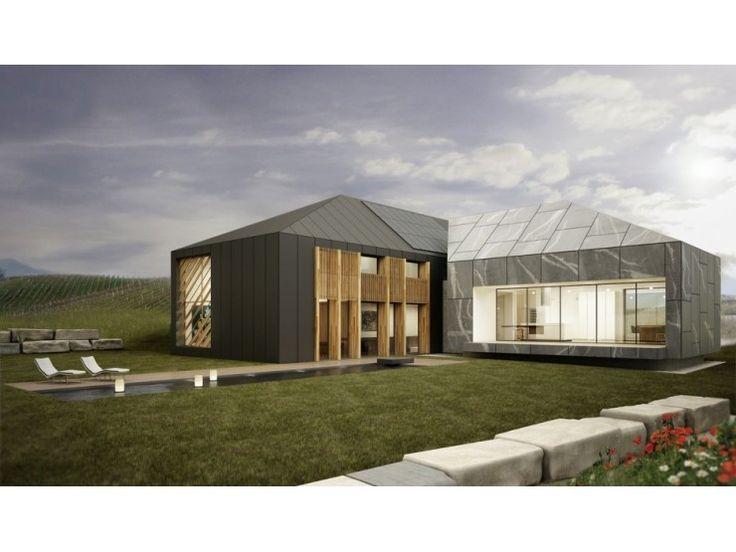 Avantgarde 02 - #Einfamilienhaus von BlackLine | HausXXL #Fertighaus #Energiesparhaus #Nullenergiehaus #modern #Walmdach