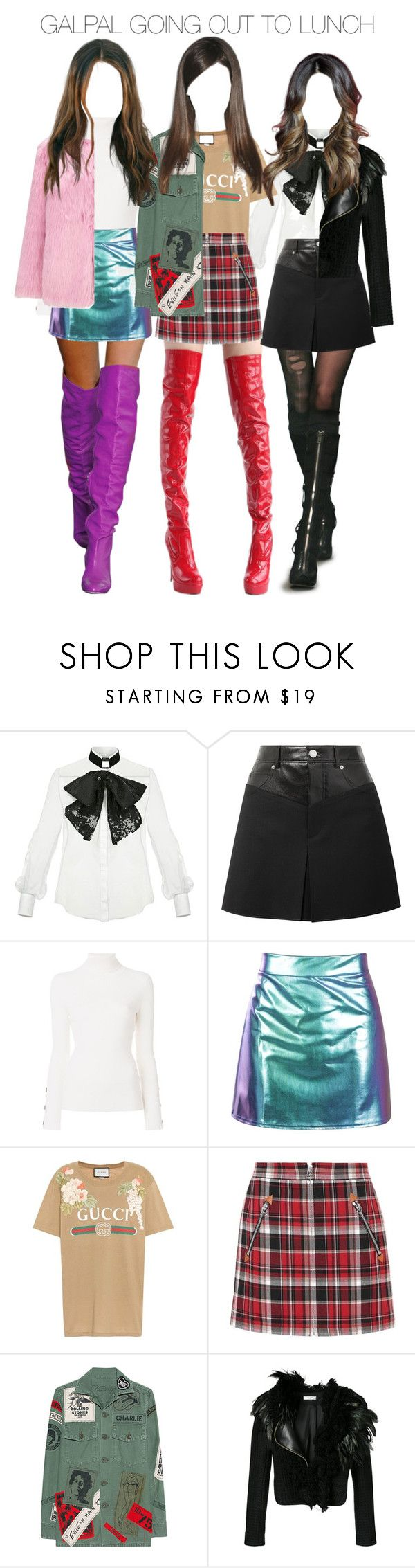 """""""'-GAL PAL GIRLS WENT OUT TO LUNCH TOGETHER-'"""" by petal-entertainment ❤ liked on Polyvore featuring Elisabetta Franchi, Helmut Lang, See by Chloé, Gucci, rag & bone, MadeWorn, Lanvin and Miss Selfridge"""