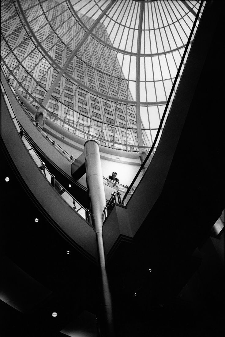ARTFINDER: Inside the Rotunda, One Canada Square... by Ade Curwen - One Canada Square was designed by principal architect Cesar Pelli, who based the design and shape mainly on the World Financial Centre and the Elizabeth Towe...