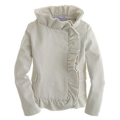 omg. how much do I wish this was in my size? :)Kids Style, J Crew, Ruffles Jackets, Crew Kids, Girls Clothingaccessori, Baby Girls, Chino Ruffleso, Jcrew, Kids Clothing
