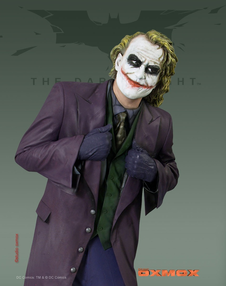 Joker, Heath Ledger, movie Batman The Dark Knight, life size, Movie promotion statue, Prototype, 216 cm in height, Marc Klinnert, Gaby Klinnert, Studio Oxmox, TM & © DC Comics