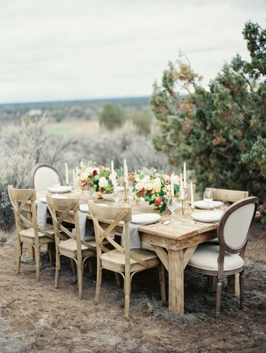 natural outdoor table setting at Brasada Ranch  #erichmcveyworkshop #natural #tablescape #brasadaranch