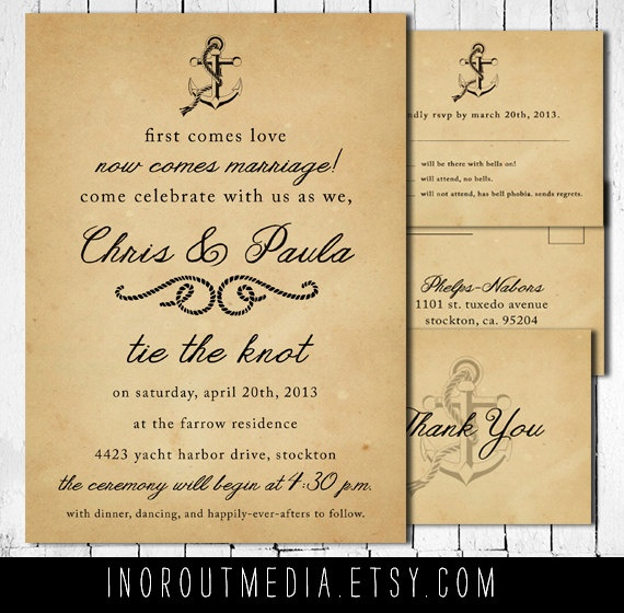the 25+ best ideas about casual wedding invitations on pinterest, Wedding invitations