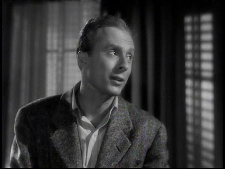 """Norman Lloyd, character actor. Here he is in Hitchcock's """"Spellbound"""", 1945. (Hitchcock also used him prominently in """"Saboteur"""", 1942)"""