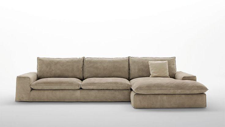#Divano modello #BroBigKilt. #Comodo, #essenziale, #forte e senza tempo, Bro rappresenta il divano per eccellenza.  Completamente sfoderabile e disponibile in pelle o tessuto. By #FRATELLIFERRO