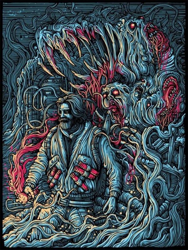 Insane Horror Artwork (The Thing) From Dan Mumford
