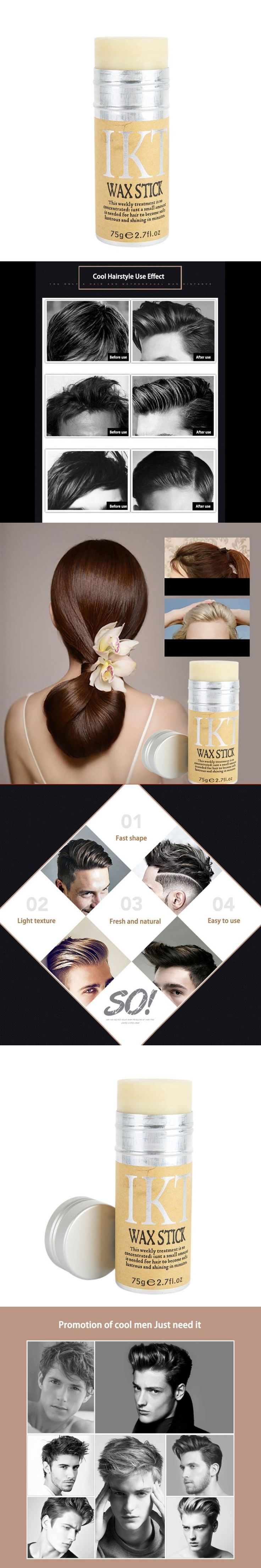 Styling Pomade Stick Rapid fixed Repair hair Smell Fresh not oily Eemale Hair Wax Rod Broken Hair Finishing