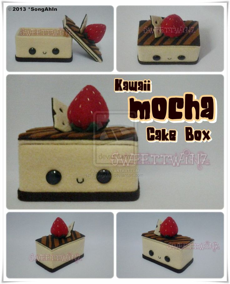 Kawaii Mocha Cake Box by SongAhIn.deviantart.com on @deviantART