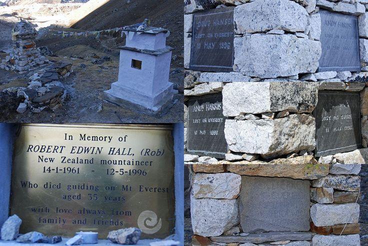 11 Memorial Chortens Next To Gorak Shep For Rob Hall, Doug Hansen, Andy Harris, Yasuko Namba, Bruce Herrod - This Day in History: May 10, 1996: Death on Mount Everest http://dingeengoete.blogspot.com/