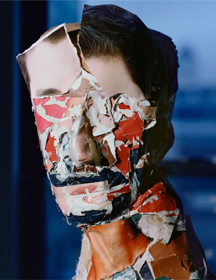 Daniel Gordon - Portrait, 2010. Collaged portraits made up from photos/magazine cuttings then photographed.