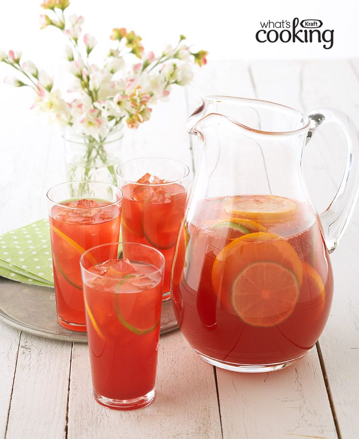 Sangria punch recipe refreshing drinks pinterest for Refreshing drink recipes non alcoholic