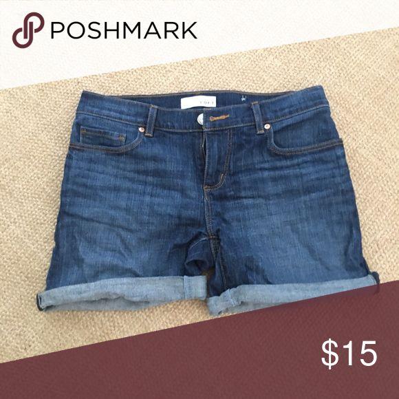 Rolled jean shorts Shorts LOFT Shorts Jean Shorts