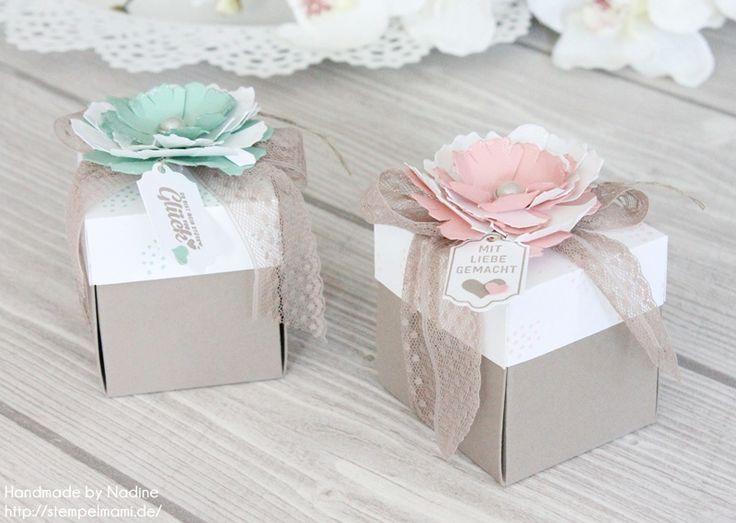 Stampin Up - Box - Schachtel - Verpackung - Goodie - Give Away - Stempelset Süße Stückchen - Stempelset Gesagt Gestanzt - Stanz und Falzbrett für Umschläge - Envelope Punch Board ☆ Stempelmami