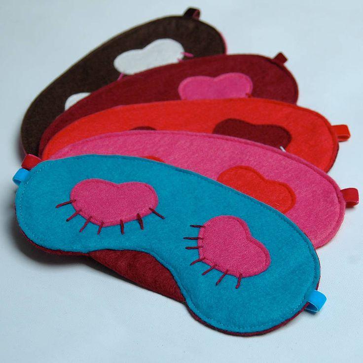 Embroidered Eyelash Sleep Mask by Sannapanda