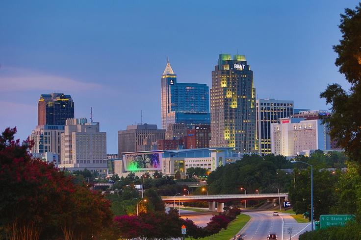 Raleigh Skyline at Dusk