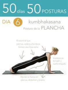 50 días 50 posturas. Día 6. Postura de la plancha