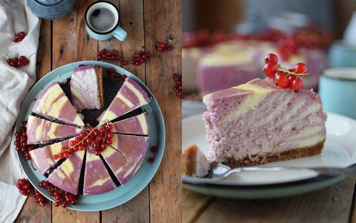 Johannisbeer Zebra Cheesecake: Cremig lecker!