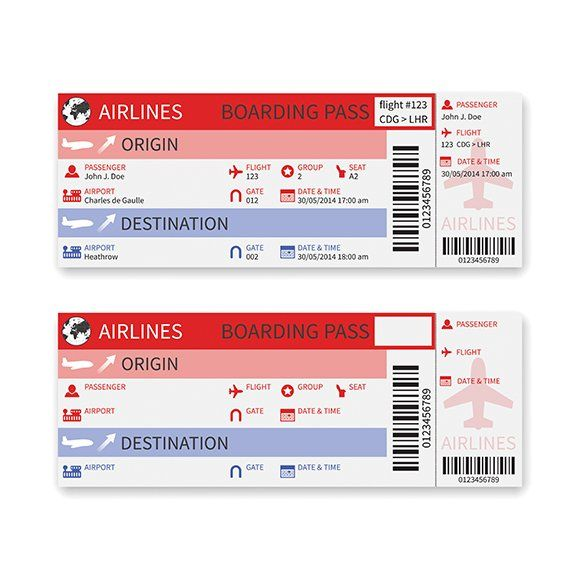 Airplane Boarding Pass Template By Alex Oakenman On