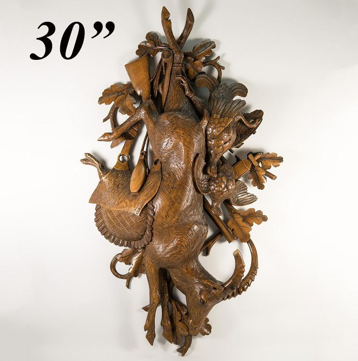 "Spectacular HUGE 30"" Antique Black Forest Fruits of the Hunt Plaque, from antiques-uncommon-treasure on Ruby Lane"