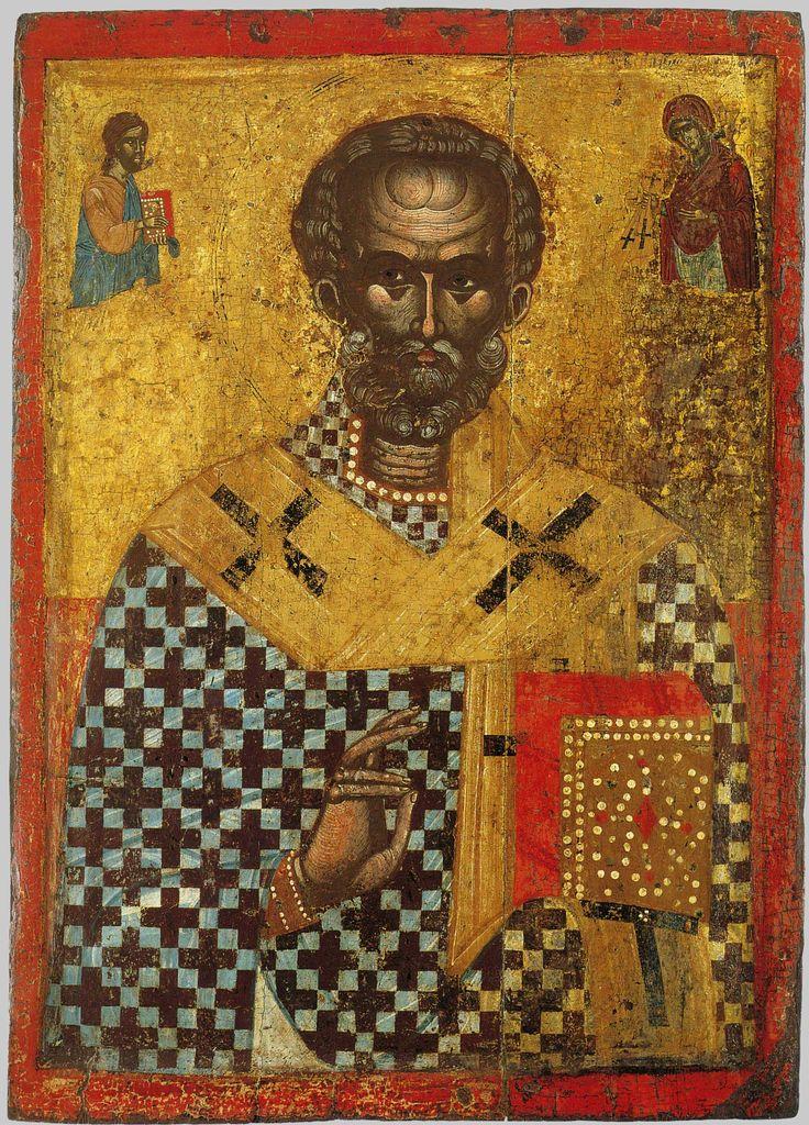 St Nicholas. 16th c. Greece. свт. Николай Чудотворец Мирликийский,; Греция; XVI в