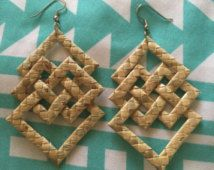 KEAO Lauhala Earrings