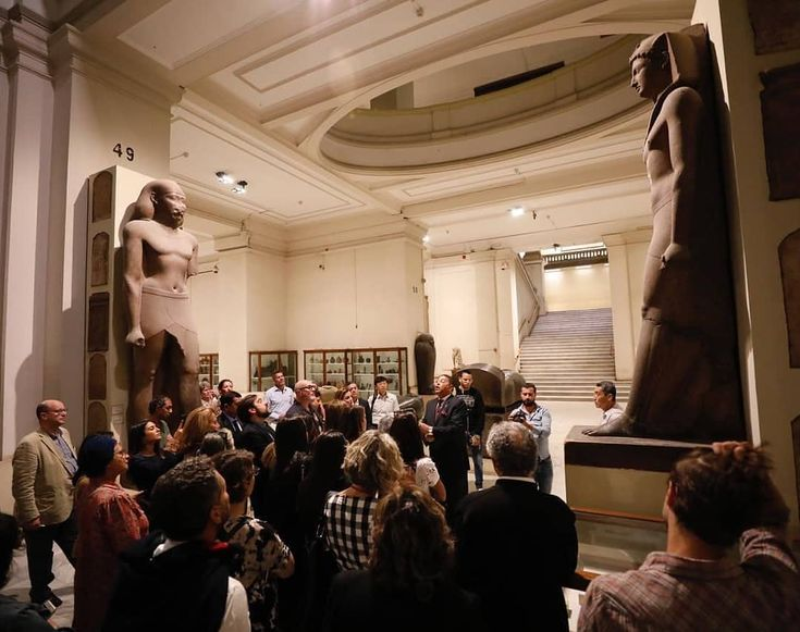 Pay a visit with us to the #EgyptianMusuem to reveal its secrets and to see the …