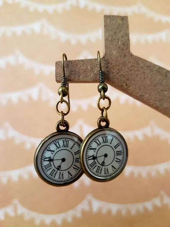 Check out this item in my Etsy shop https://www.etsy.com/au/listing/543094652/tick-tock-clock-earrings