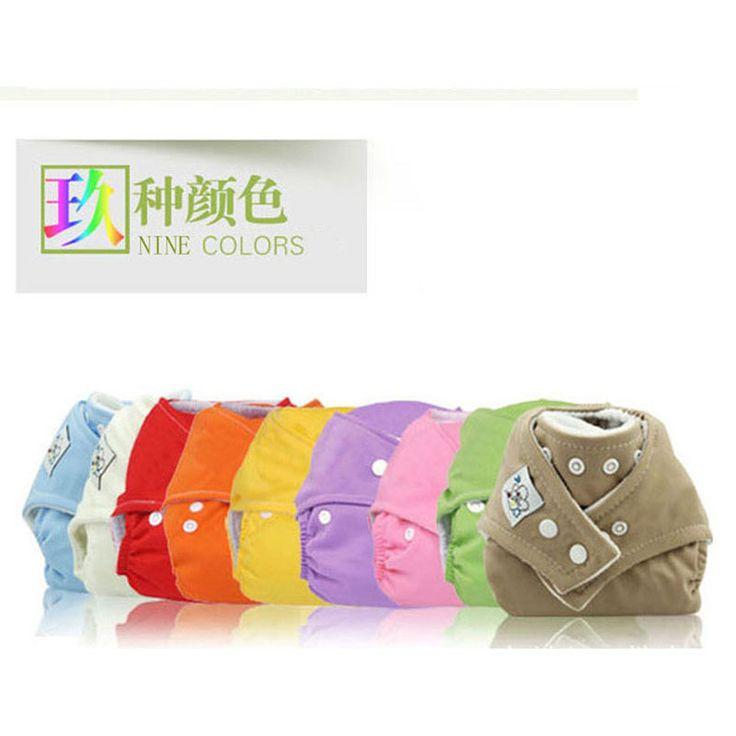 Os tampões infantis infantis dos tecidos do tecido da fralda do bebê reusável 1PCS lavam o tamanho livre .Fraldas Ecologicas