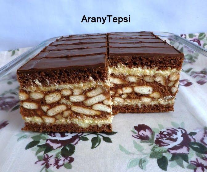 AranyTepsi: Gesztenyés-kekszes sütemény