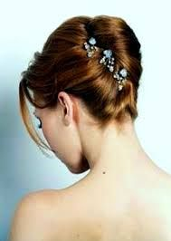 french pleat classic wedding hair