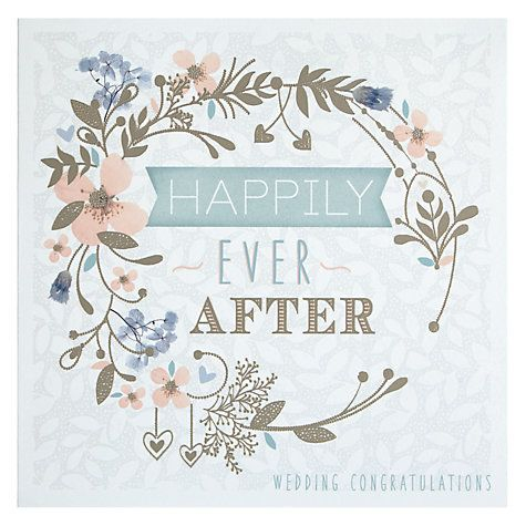 buy happily ever after floral circle wedding congratulations card online at johnlewiscom valami szp pinterest wedding congratulations