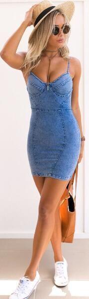 Denim Bodycon Dress