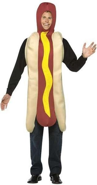 This great Hot Dog Costume will be sure to cause a stir a your fancy dress party or favorite sporting event. Just don't get eaten!