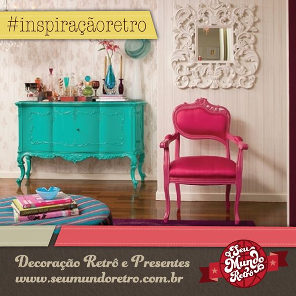 A decoração provençal é moda de novo, assim como os objetos retrô para casar com a mobília, já perceberam?! Essa é a hora de apostar numa casa mais criativa e clássica ao mesmo tempo, dê um pulo aqui no @seumundoretro!  #decor #decoração #provençal #presentes #seumundoretro
